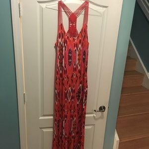 Cynthia Rowley Ikat Maxi Dress